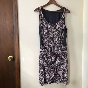 Club Monaco Tie Front Floral Tank Dress size 10